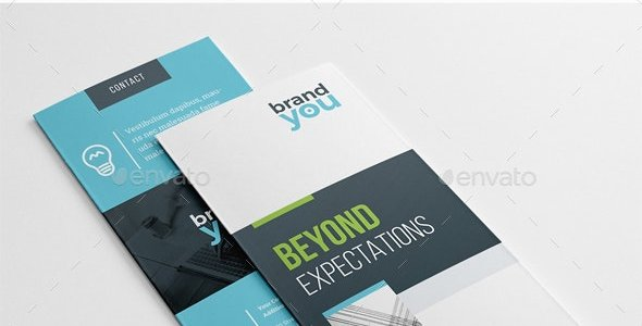 Modern Company Trifold Brochure