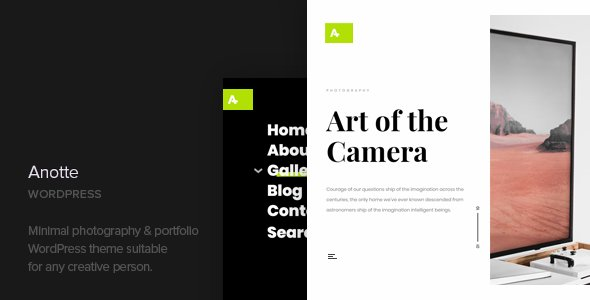 Anotte - Horizontal Photography WordPress Theme