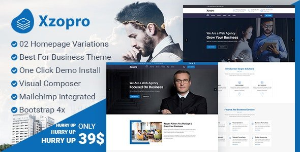 Xzopro - Finance And Business Consulting WordPress Theme