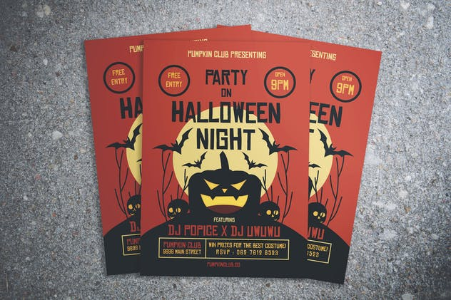 Halloween Party Night Flyer
