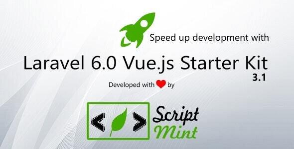 Laravel 6.0 Vue.js SPA Bootstrap Admin Starter Kit
