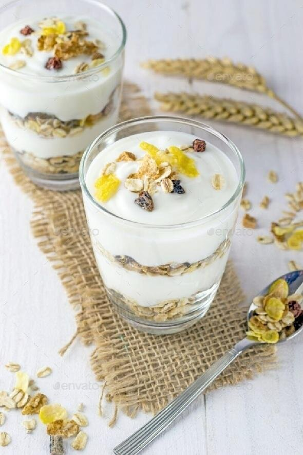 A Muesli and Yoghurt Breakfast