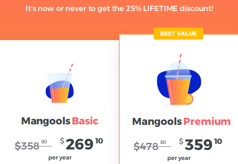 Get 25% discount on any Mangools' plans for lifetime