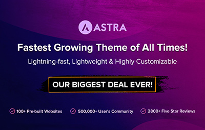 Astra - Fastest WordPress Theme