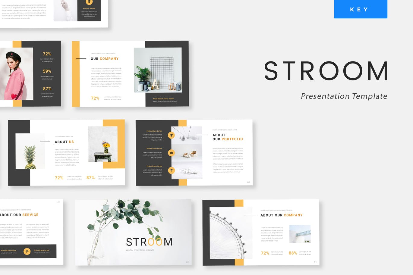 Stroom - Creative Keynote Presentation Template