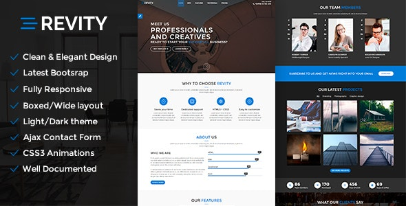Revity - OnePage Parallax