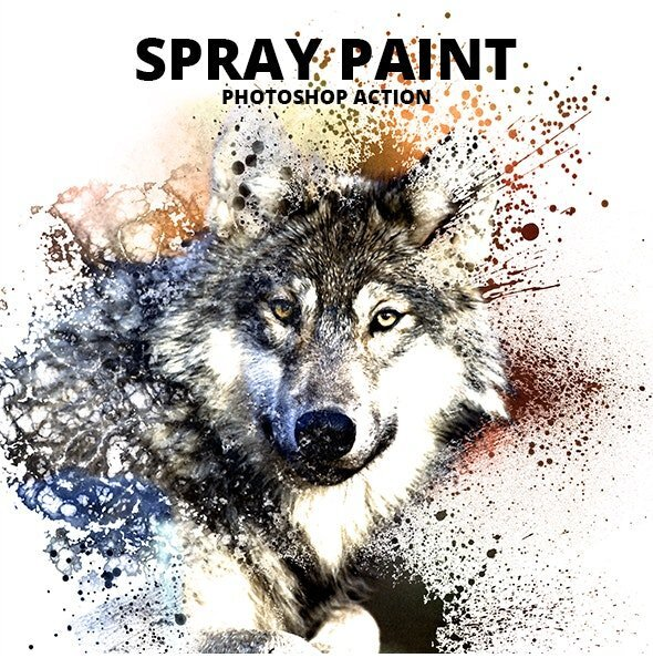 Spray Paint Photoshop Action