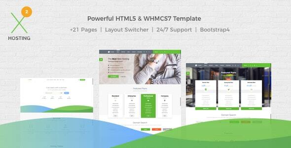 X-DATA – WHMCS7 & HTML5 Powerful Web Hosting Template