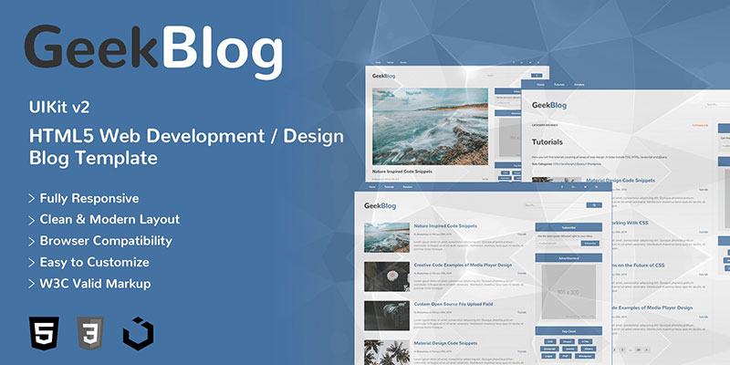GeekBlog - Web Development/Design Blog HTML 5 Template