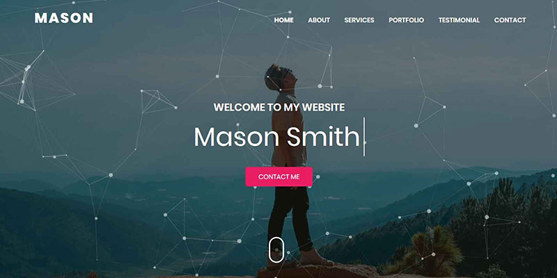 Mason Portfolio HTML Theme