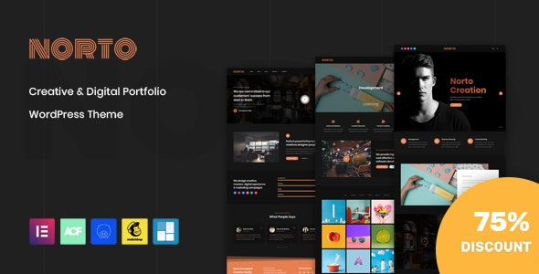 Norto - Creative Portfolio WordPress Theme