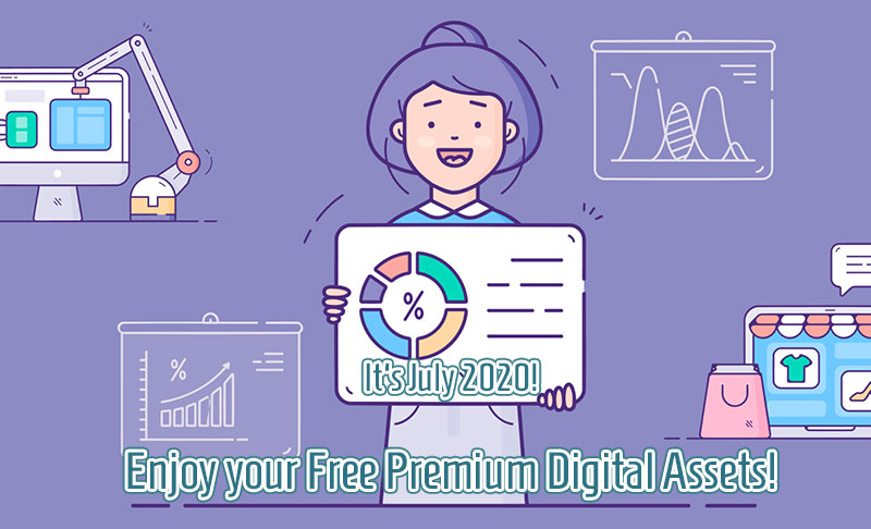 Enjoy your Free Premium Digital Assets July 2020