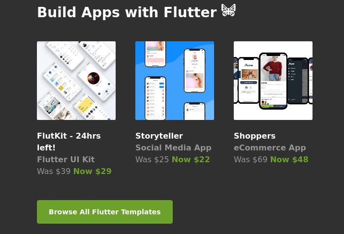 Build Apps with Flutter 🦋 New Flutter Offers