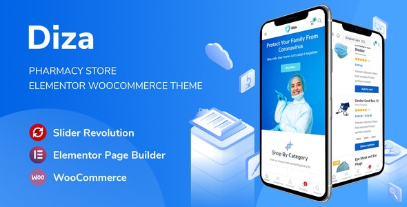 Diza - Pharmacy Store Elementor WooCommerce Theme