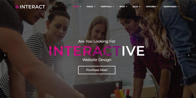Interact | Responsive Multipurpose Bootstrap Template