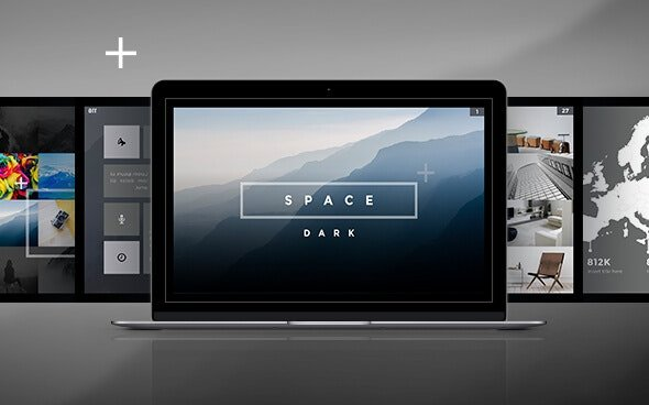 Space Dark PowerPoint Template