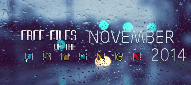 8 Free Files of the month on Envato Marketplace November 2014