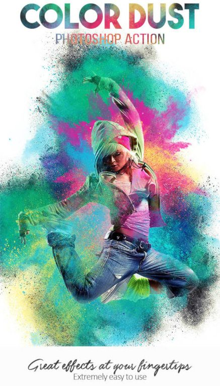 Color Dust Photoshop Action