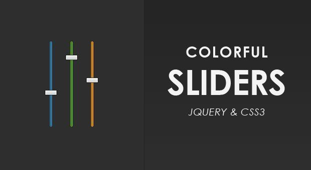 Colorful Sliders With jQuery & CSS3