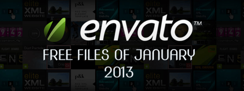Envato Marketplace – Free Files of the January 2013