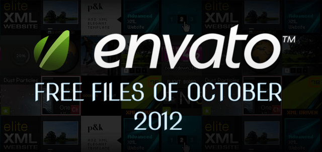 Envato Marketplace – Free Files of the October 2012