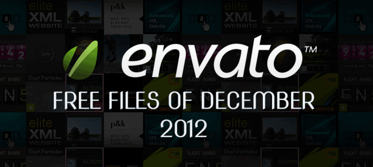 Envato Marketplace – Free Files of the December 2012