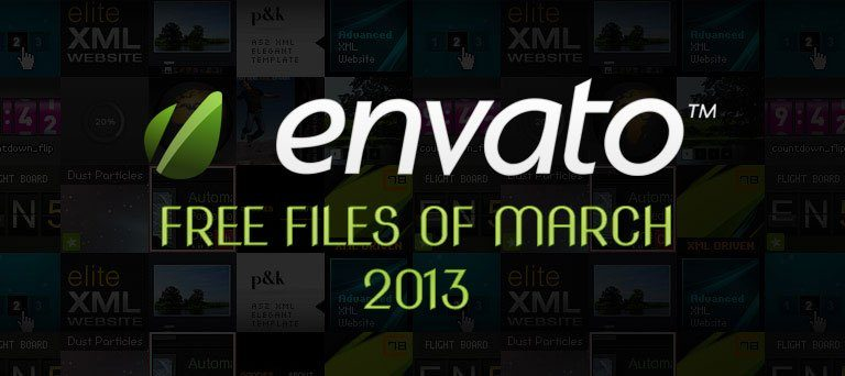 Envato Marketplace – Free Files of the March 2013