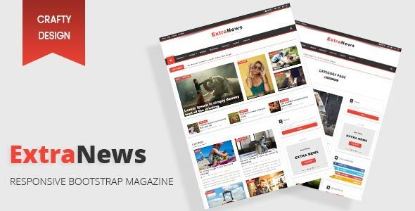Extra News - Responsive Bootstrap Template