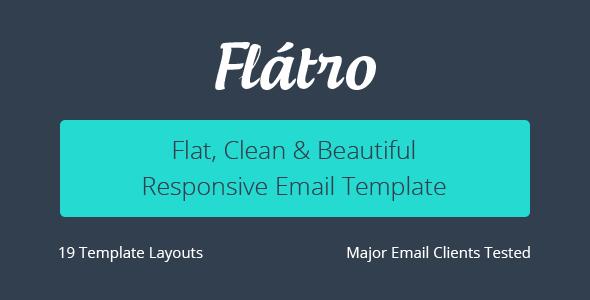 Flátro – Responsive Email Newsletter Templates