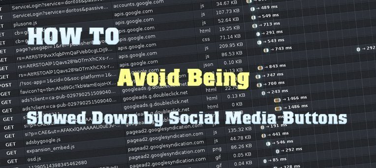 HOW TO Avoid Being Slowed Down by Social Media Buttons