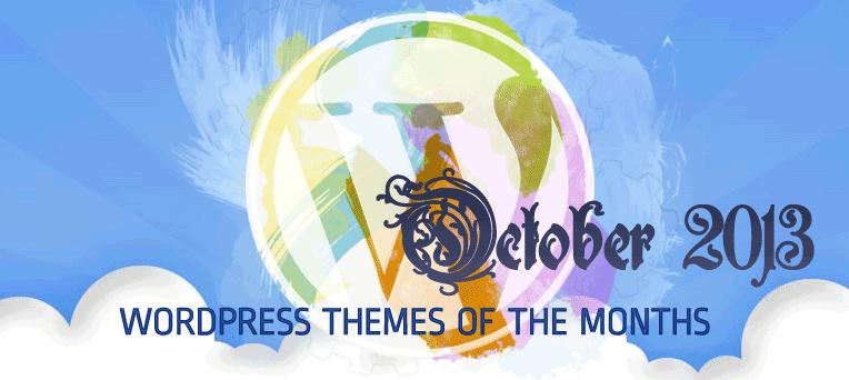 Top Beautiful & Free Premium WordPress Themes October 2013