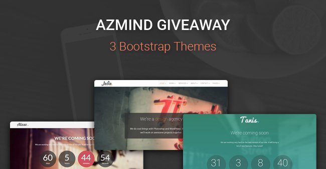 AZMIND Giveaway: 2 WordPress Themes + 1 HTML5 Template