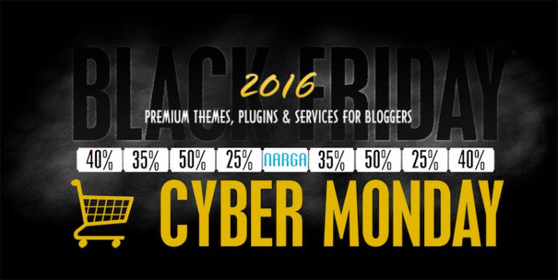 Black Friday / Cyber Monday 2016 Promo & Discount for Bloggers